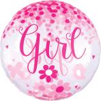 Jumbo Confetti Balloon Baby Girl Foil Balloon P45 packaged