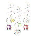 6 Swirl Decorations 70 Confetti Birthday Paper 61 cm