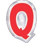 48 Stickers Letter Q