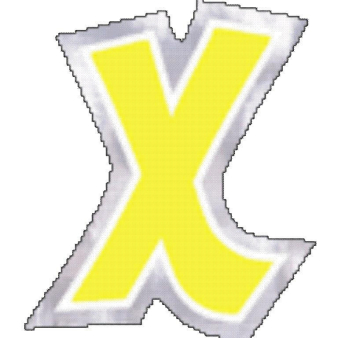 48 Stickers Letter X