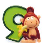 Numeral Candle 9 Safari