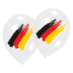 6 Latex Balloons Germany 27.5 cm/11''