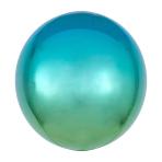 Ombré Orbz Blue & Green Foil Balloon G20 bulk