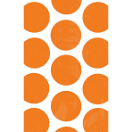 10 Paper Treat Bags Polka Dot Orange Peel 11.3 x 17.7 cm