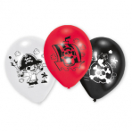 "6 Latex Balloons Pirate 22.8 cm/9"""