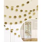 6 String Decorations Glitter Gold Foil 213 cm