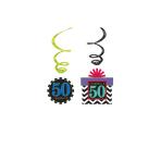12 Swirl Decorations Chevron Birthday 50