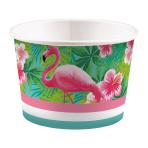 8 Ice Bowls Flamingo Paradise Paper 270 ml