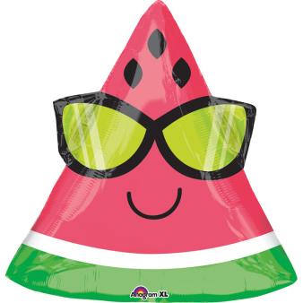 """Junior Shape """"Fun in the Sun Watermelon"""" Foil Balloon, S50, packed, 45 x 43cm"""