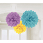 3 Fluffy Decorations Baby Shower 40.6 cm