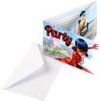 8 Invitations & Envelopes Miraculous Paper 8 x 14 cm