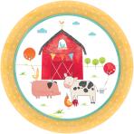 8 Plates Barnyard Birthday 18c