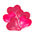 25 Latex Balloons Red Small 20 cm