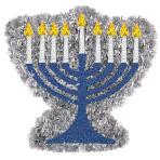 Tinsel Mini Menorah Hanukkah
