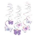 6 Swirl Decorations Flutter 61 cm