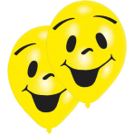 """8 Latex Balloons Sunny Smile 2-Sided 25.4 cm / 10"""""""