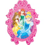 SuperShape Princess Frame FoilBalloon P38 Packaged 63 x 78  cm