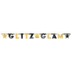 Letter Banner Glitz & Glam Foil 210 x 15.8 cm