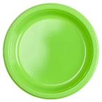20 Plates Kiwi Green Plastic Round 22.8 cm