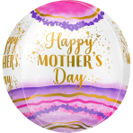 Orbz Happy Mother's Day Geode Foil Balloon G20 packaged