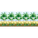 Scene Setter Room Roll Palm Trees Plastic 1.2 x 12.1 m
