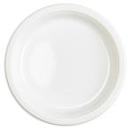 10 Plates Frosty White Plastic Round 22.8 cm