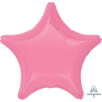 "Standard ""Bright Bubble Gum Pink"" Foil Balloon Star, S15, packed, 48cm"