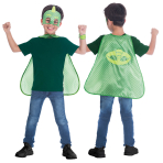 Child Costume PJ Masks Gekko Cape Set Age 4 - 8 Years