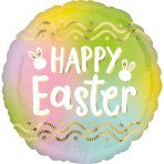 Standard Ombré Easter Foil Balloon circle S40 packaged