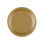 8 Plates Gold Paper Round 17.7 cm