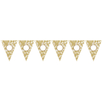 Pennant Banner Personalize It!Paper gold 790 cm