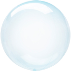 Clearz Crystal Blue Foil Balloon S40 packaged