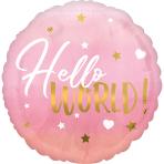 Standard HX Pink Baby Girl Foil Balloon S40 Packaged