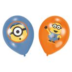 6 Latex Balloons Minions 4 Colour Print 27.5 cm/11''