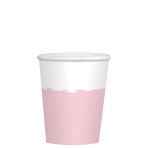 8 Cups Rose Gold Birthday     Paper 250 ml