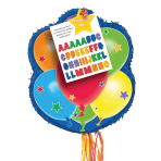 Pull Pinata Balloons Personalizable Paper / Plastic 43.8 x 53.3 x 7.6 cm