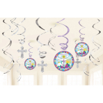 12 Swirl Decorations Mi primera Communion 12 Pieces