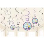 12 Swirl Decorations Mi primera Communion 12 Pieces