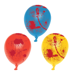 """6 Latex Balloons Blood Splatter 25.4 cm / 10"""""""