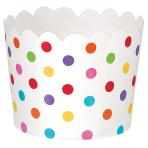 36 Snack Cups Paper Minis     rainbow 6,1 x 6,1 x 4,4cm