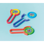 12 Disc-Shooters Plastic 10.3 x 4.6 cm
