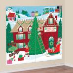 2 Scene Setter Add On Santa   Workship Plastic 82 x 165 cm