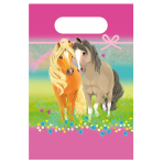 8 Pretty Pony Loot Bags Paper 23.4 x 16.2 cm