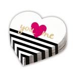 12 Napkins Heart Shaped Everyday Love 32 cm