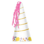 8 Party Cone Hats Magical Unicorn Paper Height 17.1 cm