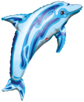 SuperShape Ocean Blue Dolphin Foil Balloon P30 Bulk