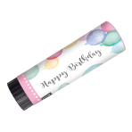 2 Party Popper Happy Birthday Pastel Plastic / Paper 15 cm