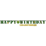 Letter Banner Camouflage Paper Personalizable 323 x 25.4 cm