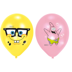 6 Latex Balloons SpongeBob 4 Colour Print 27.5 cm/11''