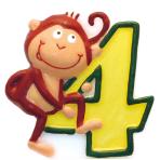 Numeral Candle 4 Safari